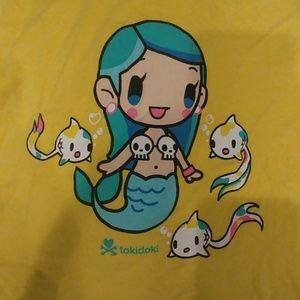 Tokidoki Mermaid and Koi fish t shirt